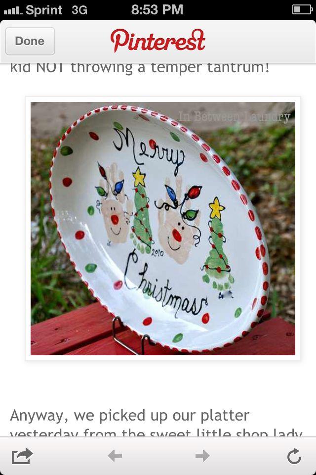Rudolph plate | Preschool | Pinterest | Parent christmas gifts and Craft