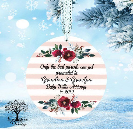 Christmas pregnancy announcement ornament baby coming only the best friends get promoted to aunt to be gift pregnancy reveal to sister