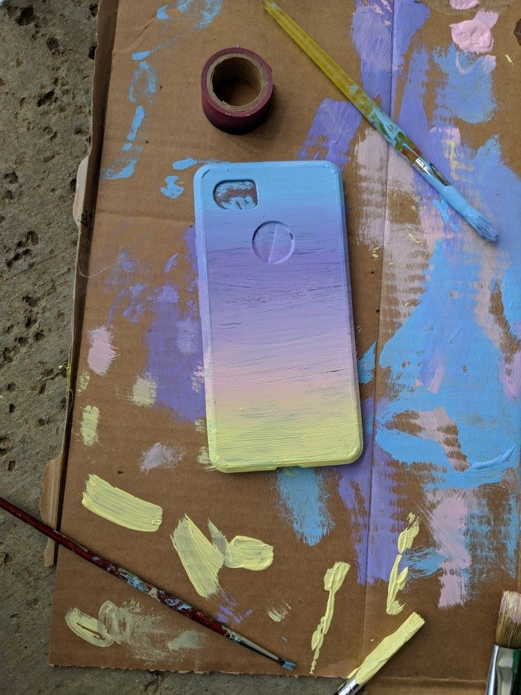 I Just Painted My Phone Case With Acrilic Paint Phone Case