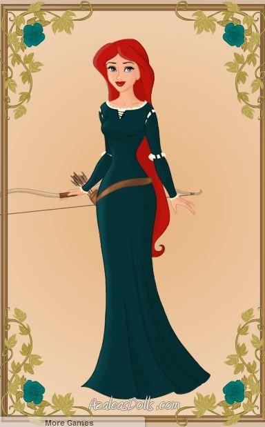 Ariel As Merida by WeavingMaiden
