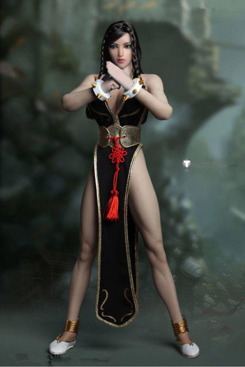 fbde98fbd Street Fighter 5 CHUN LI Black Golden Cosplay Costume #streetfighter5