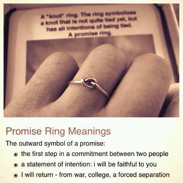 D8mart Perfect Knot Ring Promise Ring Meanings The First
