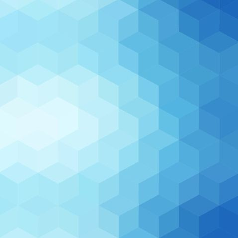 Gradient Blue Color And Triangle Polygon Pattern Background