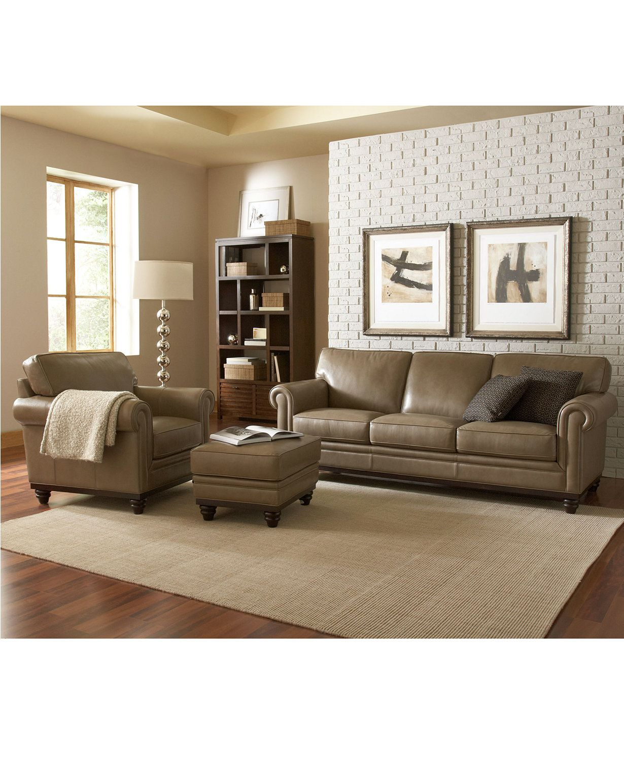 Leather Furniture Traveler Collection: Bradyn Leather Sofa Collection, Created For Macy's