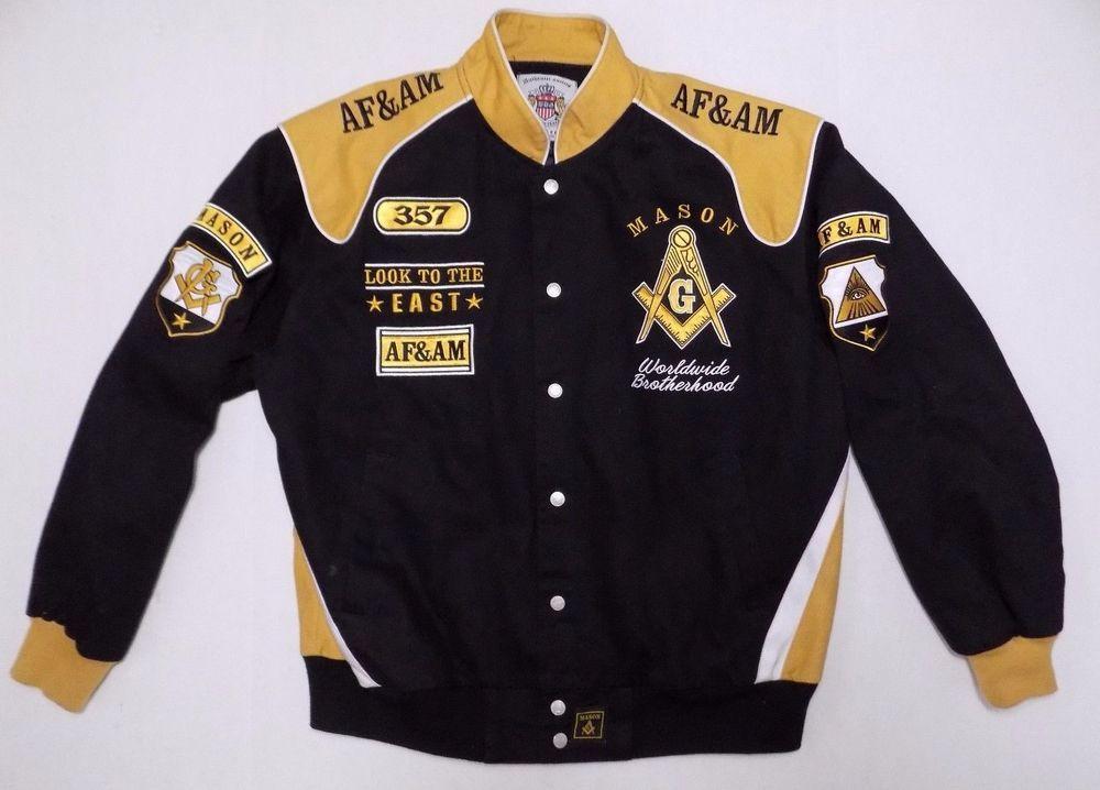 Freemasons Mason Large Heavy Jacket Letterman Varsity