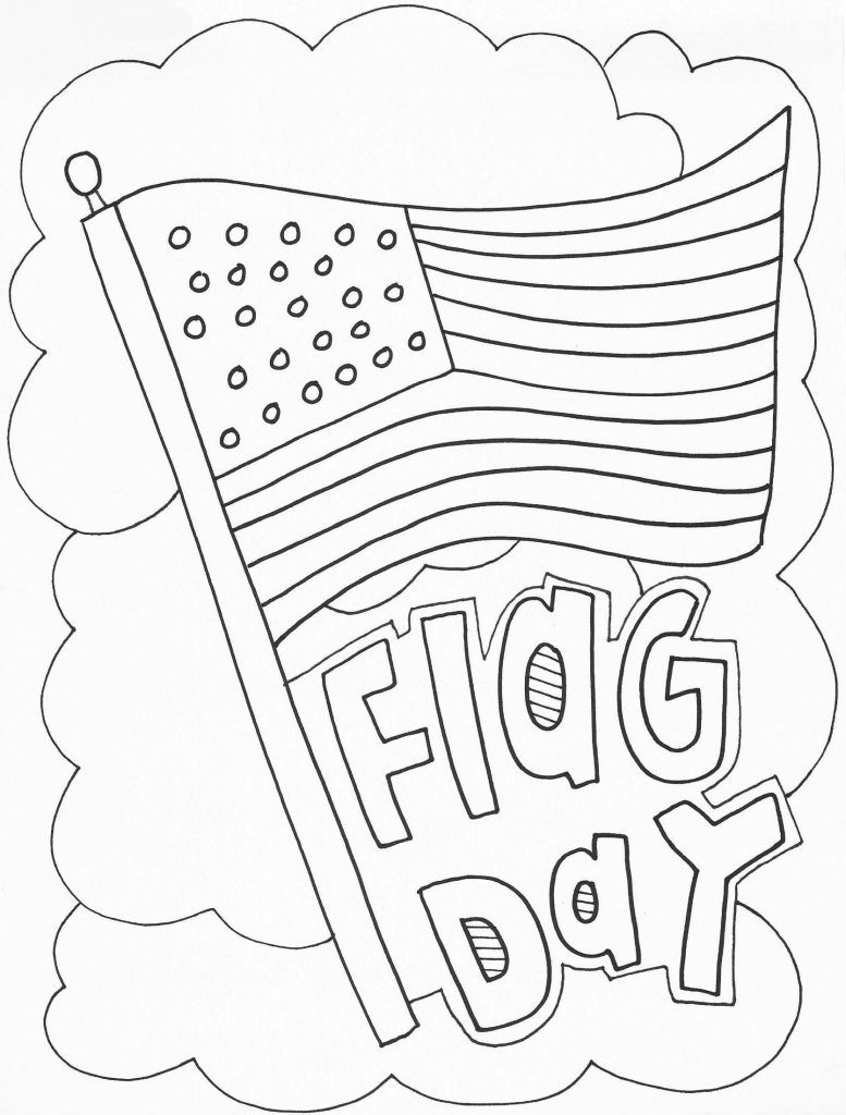 Flag Day Coloring Pages Flag coloring pages, American