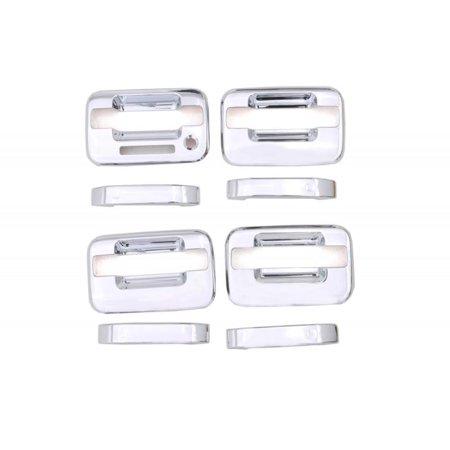 Avs 04 14 Ford F 150 4 Door W Keypad Door Handle Covers 4 Door 8pc Set Chrome Silver Door Handles Chrome Walmart Shopping
