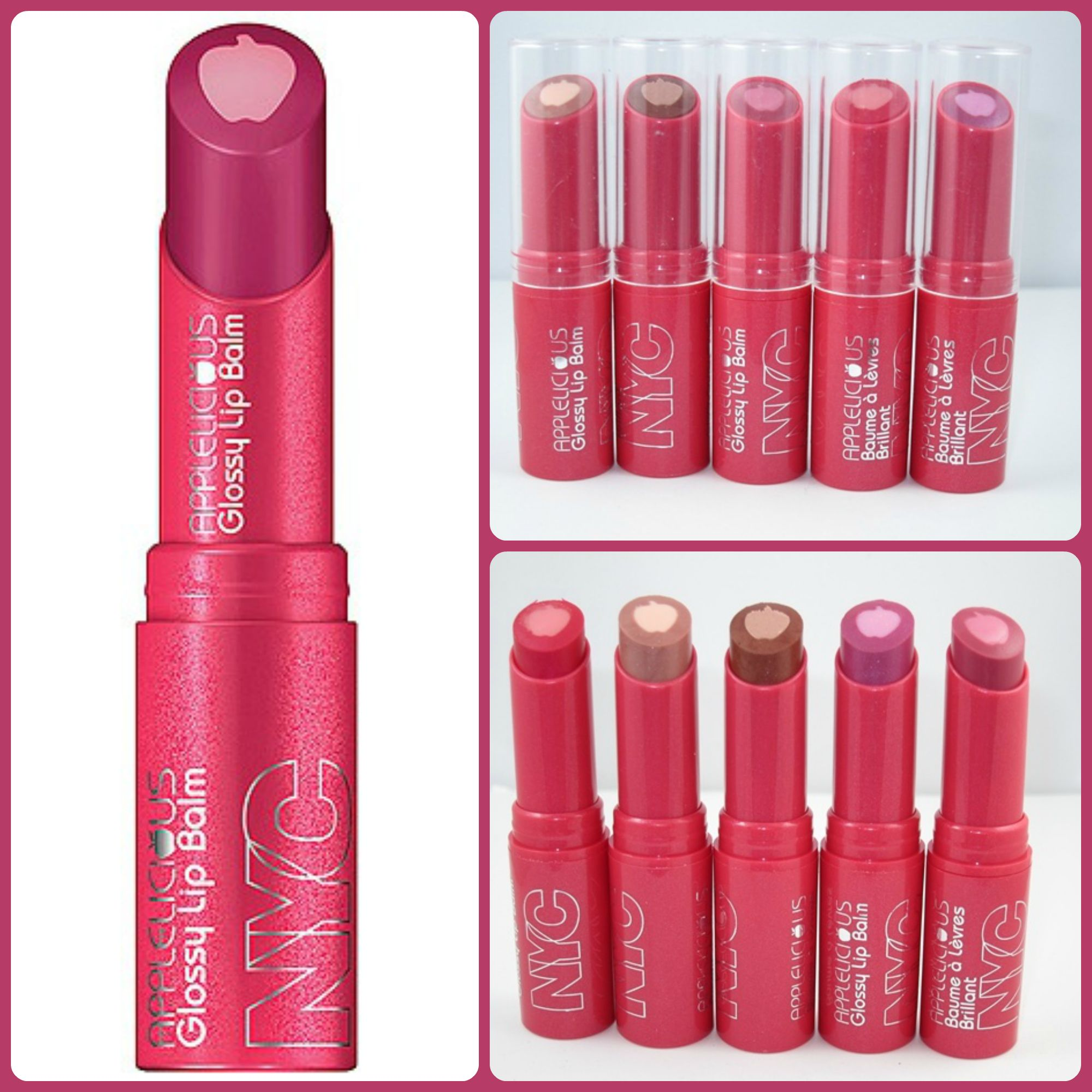 All Of The Nyc New York Color Nyc Lip Balm Varieties Blushing
