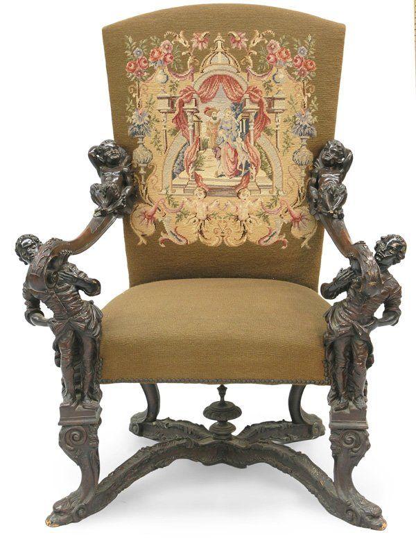 Italian Baroque Furniture Chair