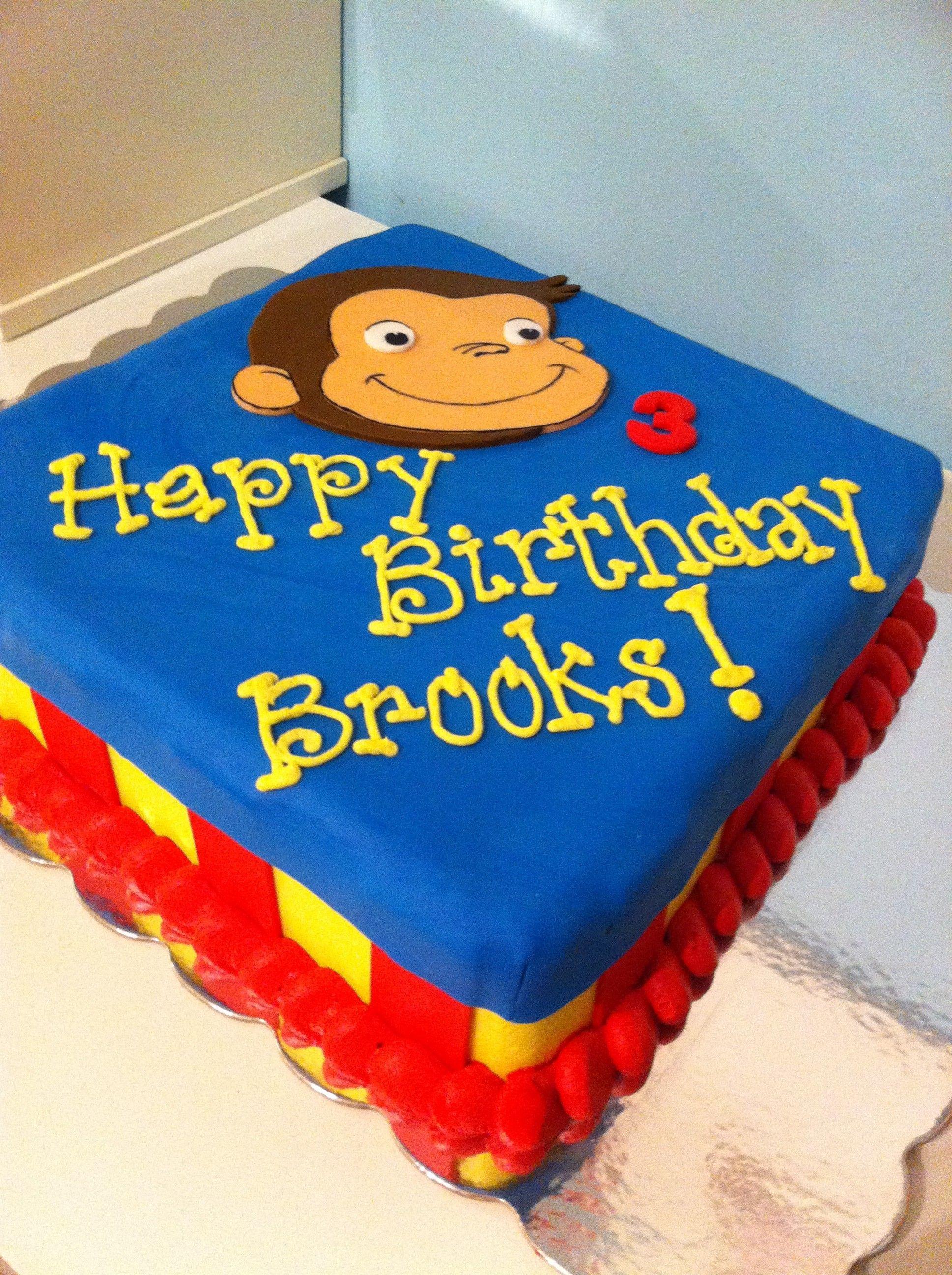 Curious George Birthday Cakes Google Search Dawsons 3 Birthday