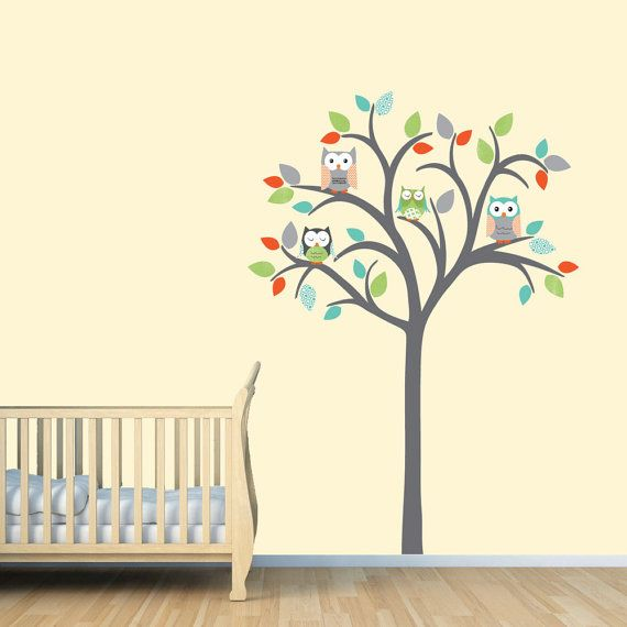Owl Tree Decal Wall Sticker By Stickitdecaldesigns 69 00