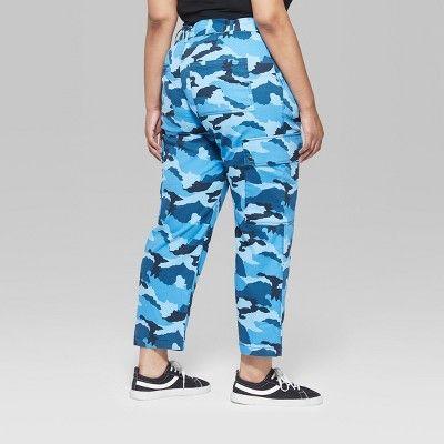 "9b3230ca06c68 Women's Plus Size Camo Print Cargo Pants - Wild Fableâ""?20Blue 18W #Print, # Cargo, #Camo"