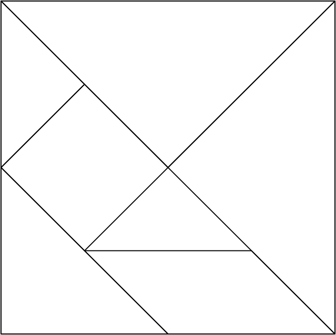 Tangram para imprimir | Tangram, Fichas de matematicas, Figuras ...
