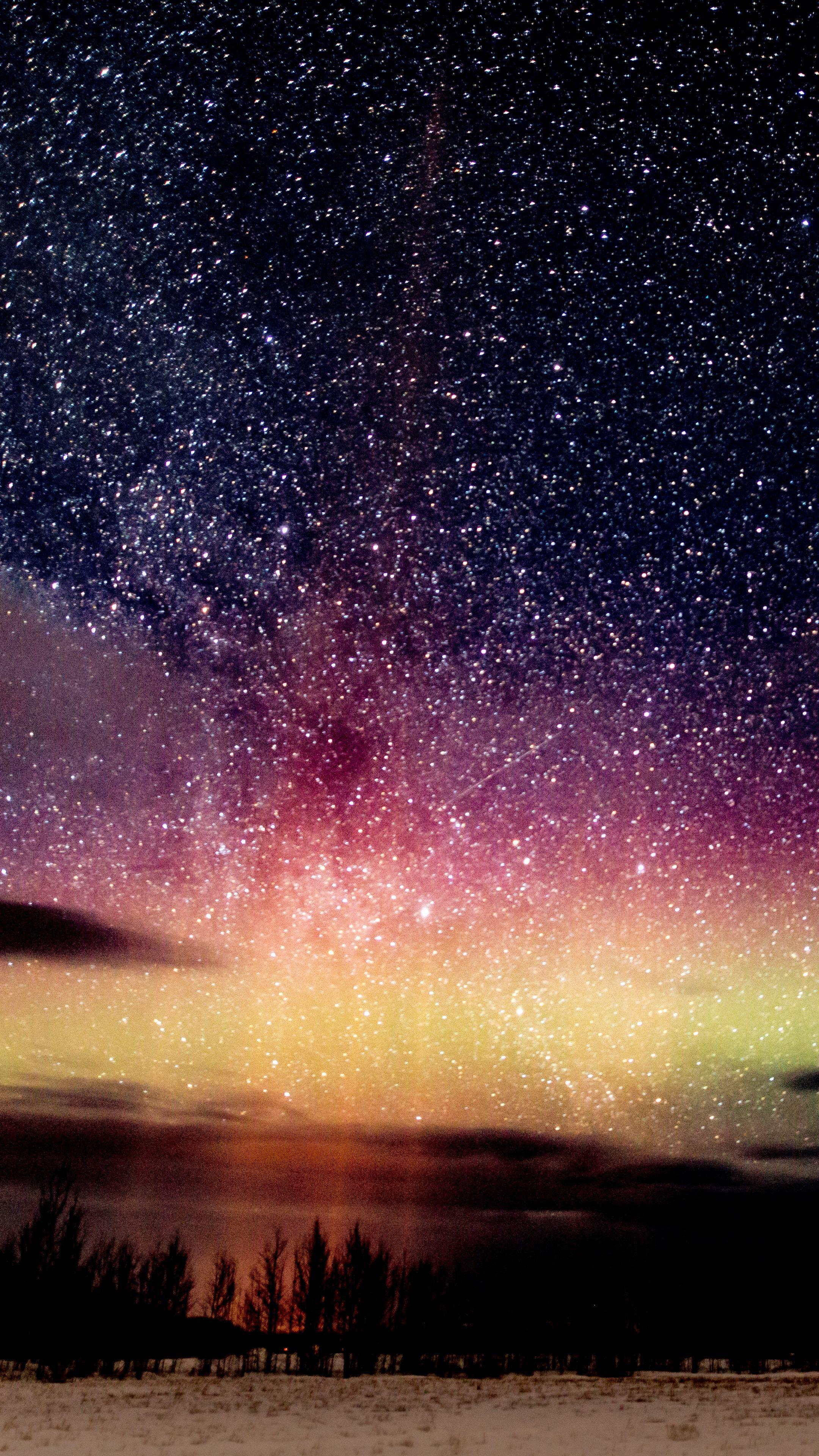 2160x3840 Wallpaper Starry Sky Night Stars Glitter Starry Night Wallpaper Starry Night Sky Sky Pictures