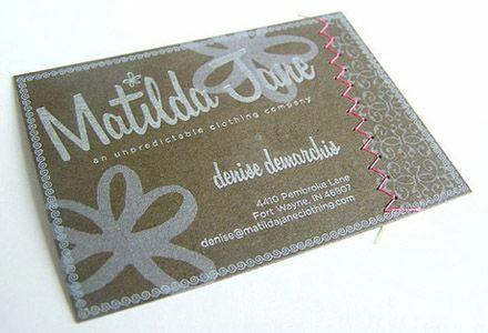 Tarjeta de modista, también adecuada para costureras y demás relacionados con el hilo y la aguja.