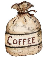 Coffee Bean Bag Clip Art
