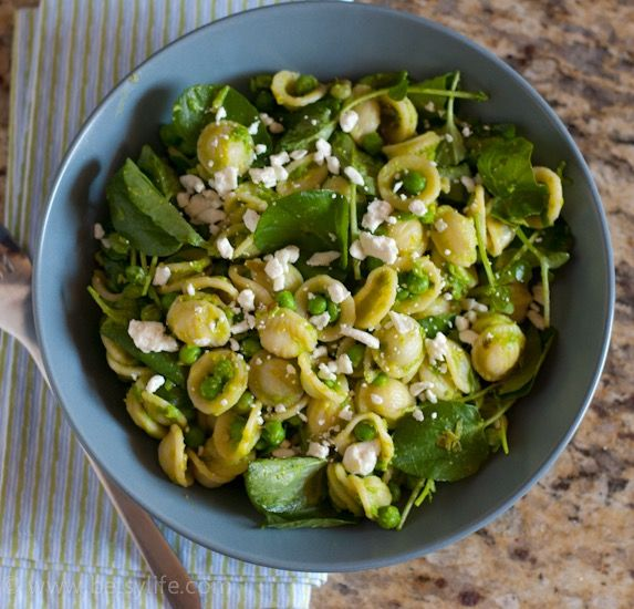 Orecchiette with Watercress and Spring Pea Sauce