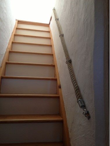 Best Image Result For Thick Rope Staircase Railing Escalier 400 x 300