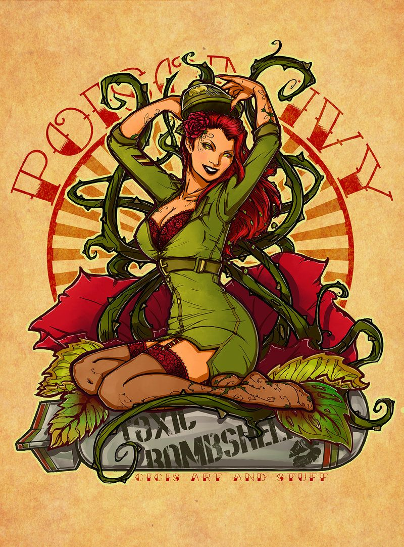 poison ivy pin up tattoo design by cicisartandstuff cosplay ideas rh pinterest com DC Comics Poison Ivy Poison Ivy 4 Cast