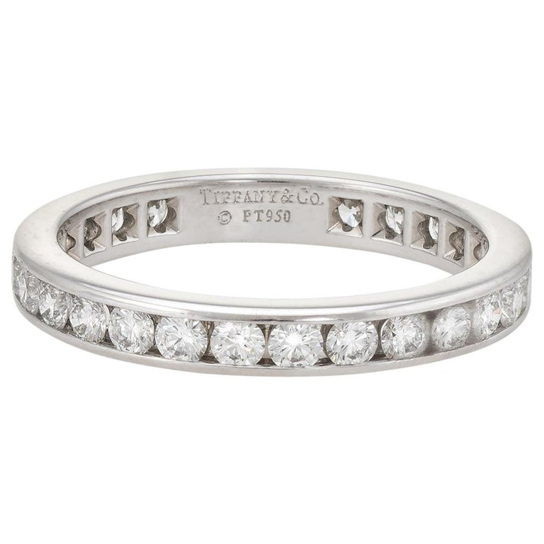 Estate tiffany and co 1 carat diamond wedding band
