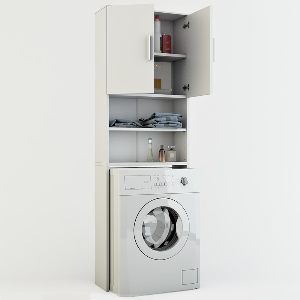 Vicco Waschmaschinenschrank Weiss 190 X 64 Cm Badregal