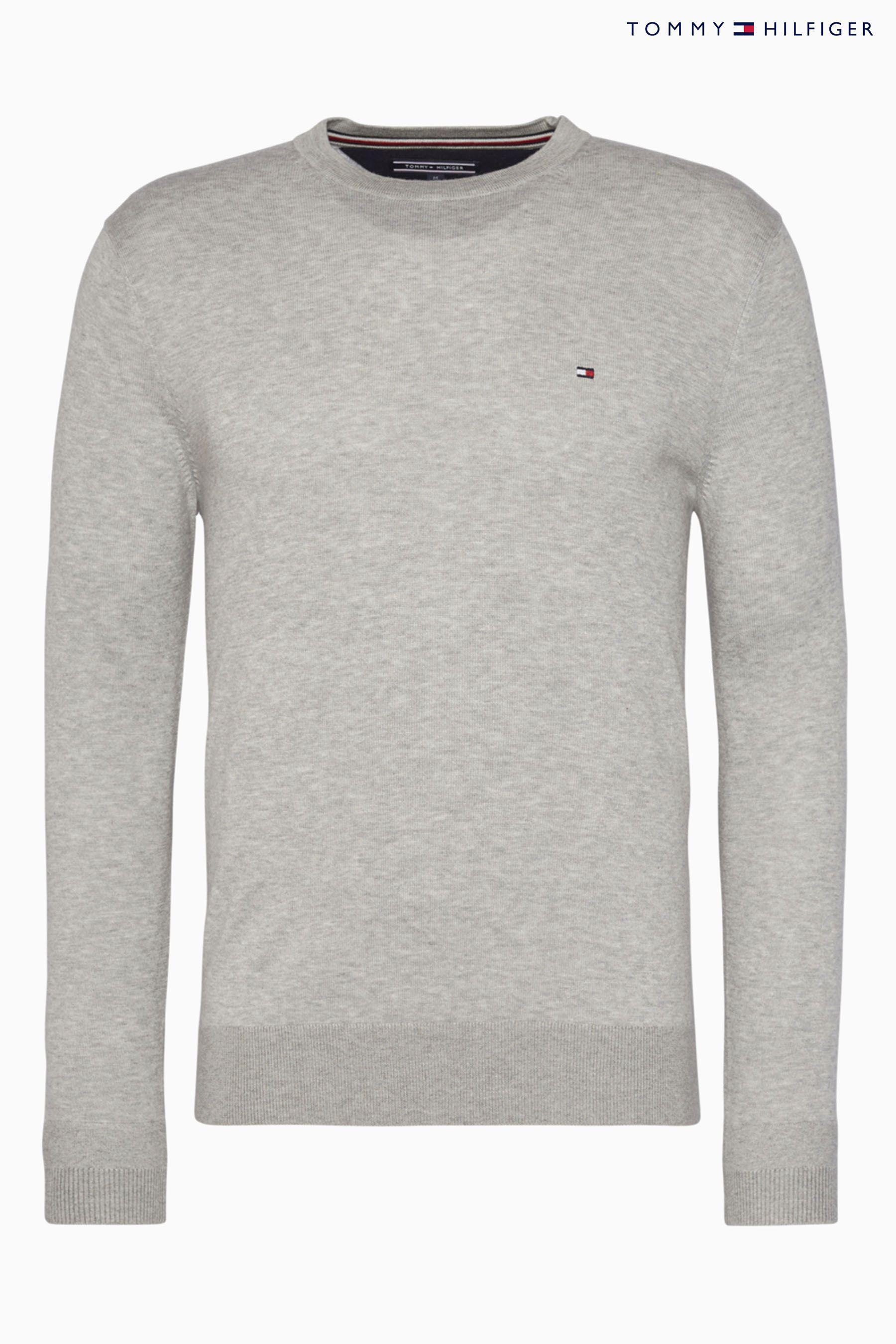 1f4cebeb0 Mens Tommy Hilfiger Core Cotton Silk Sweater - Grey in 2019 ...