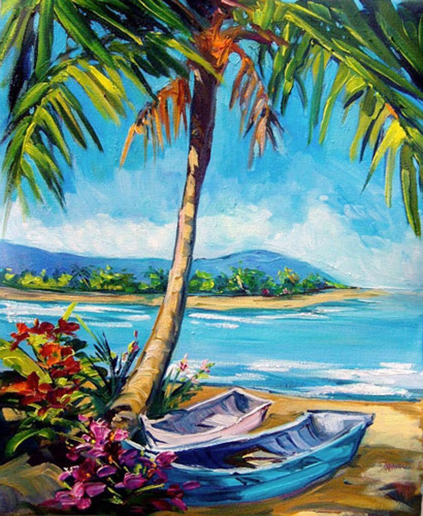 13d444b46 Palm Shade by Steve Barton | Art of Palm Trees in 2019 | Painting ...