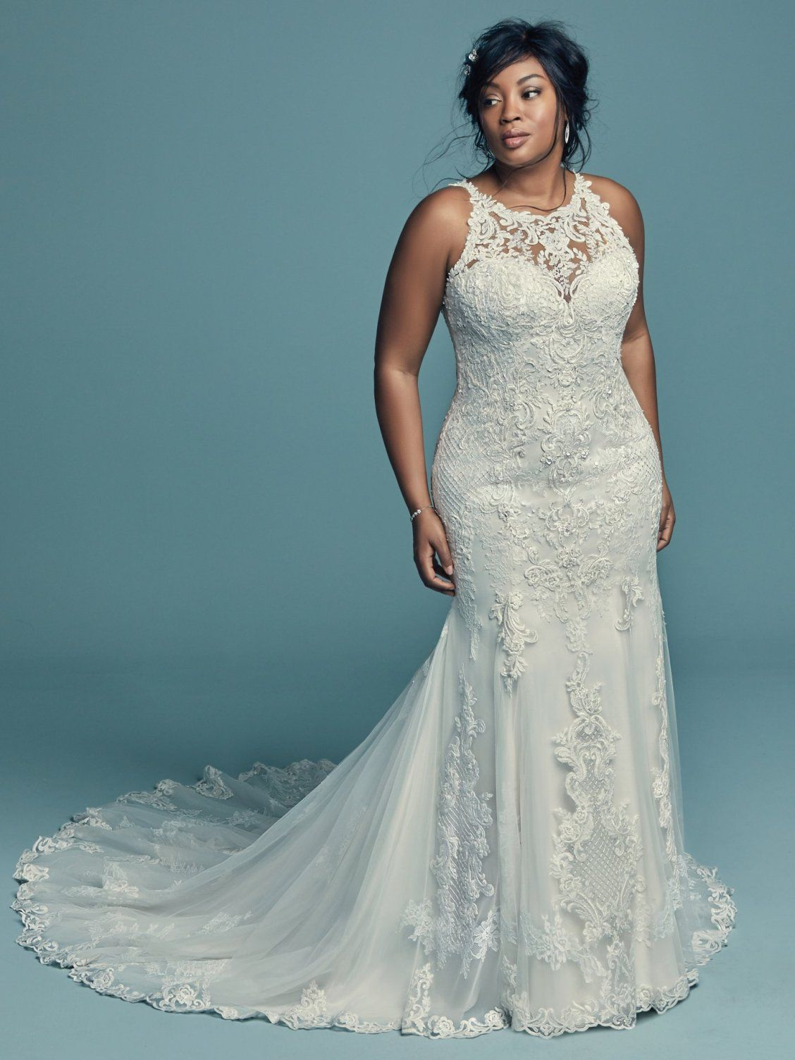 c34bc5365840b Maggie Sottero - KENDALL LYNETTE, This classic yet striking wedding gown  offers additional coverage to our Kendall style. Fit-and-flare silhouette  features ...