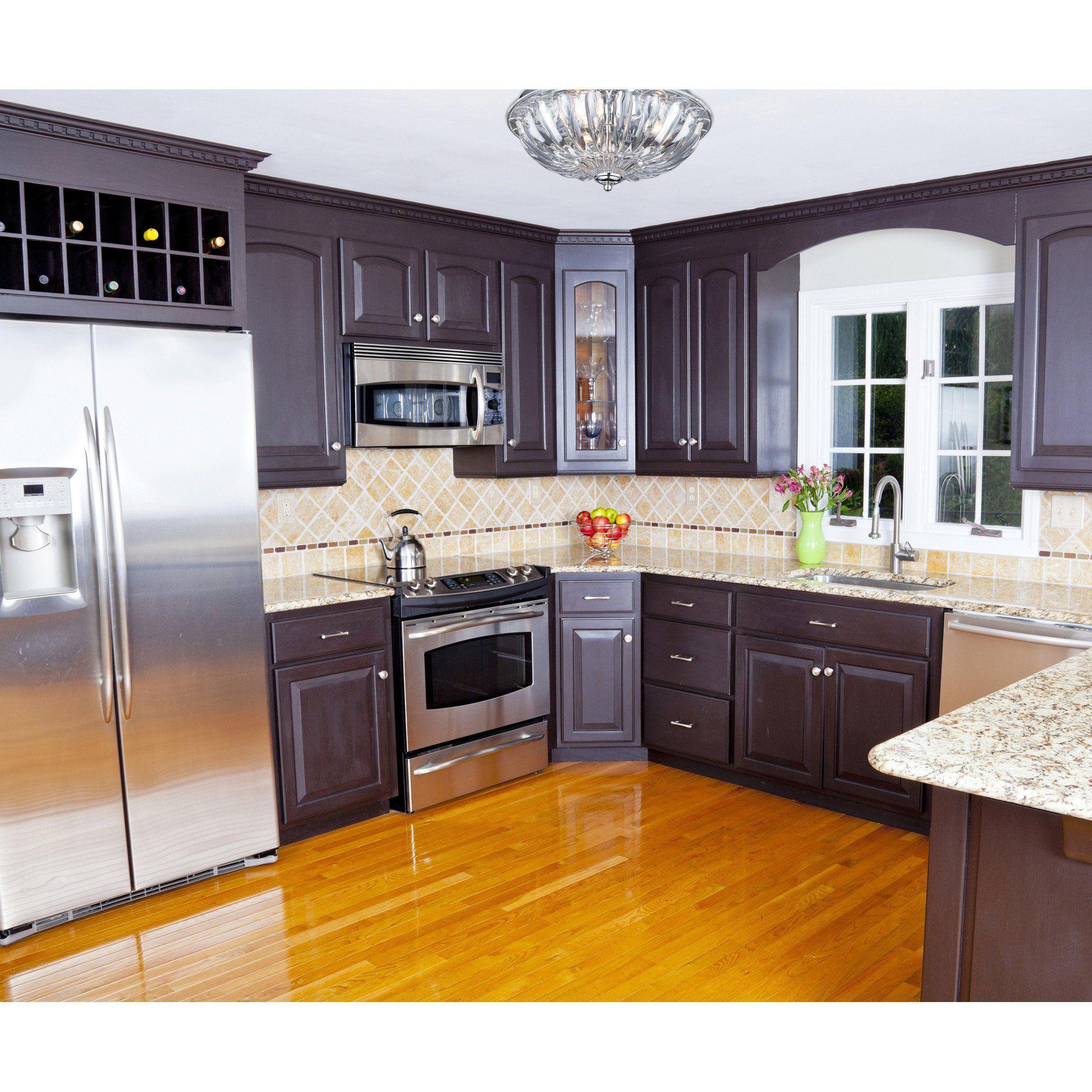 Crystal Flushmounts 2 Light Flushmount In Polished Chrome Modern Kitchen Design Tuscan Kitchen Modern Kitchen Cabinets