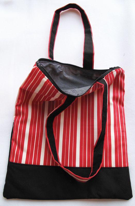 #Bolso bitonal, hecho en tela. Medidas 30x35cm #Totebags #PiezaOriginal #handmade #bag