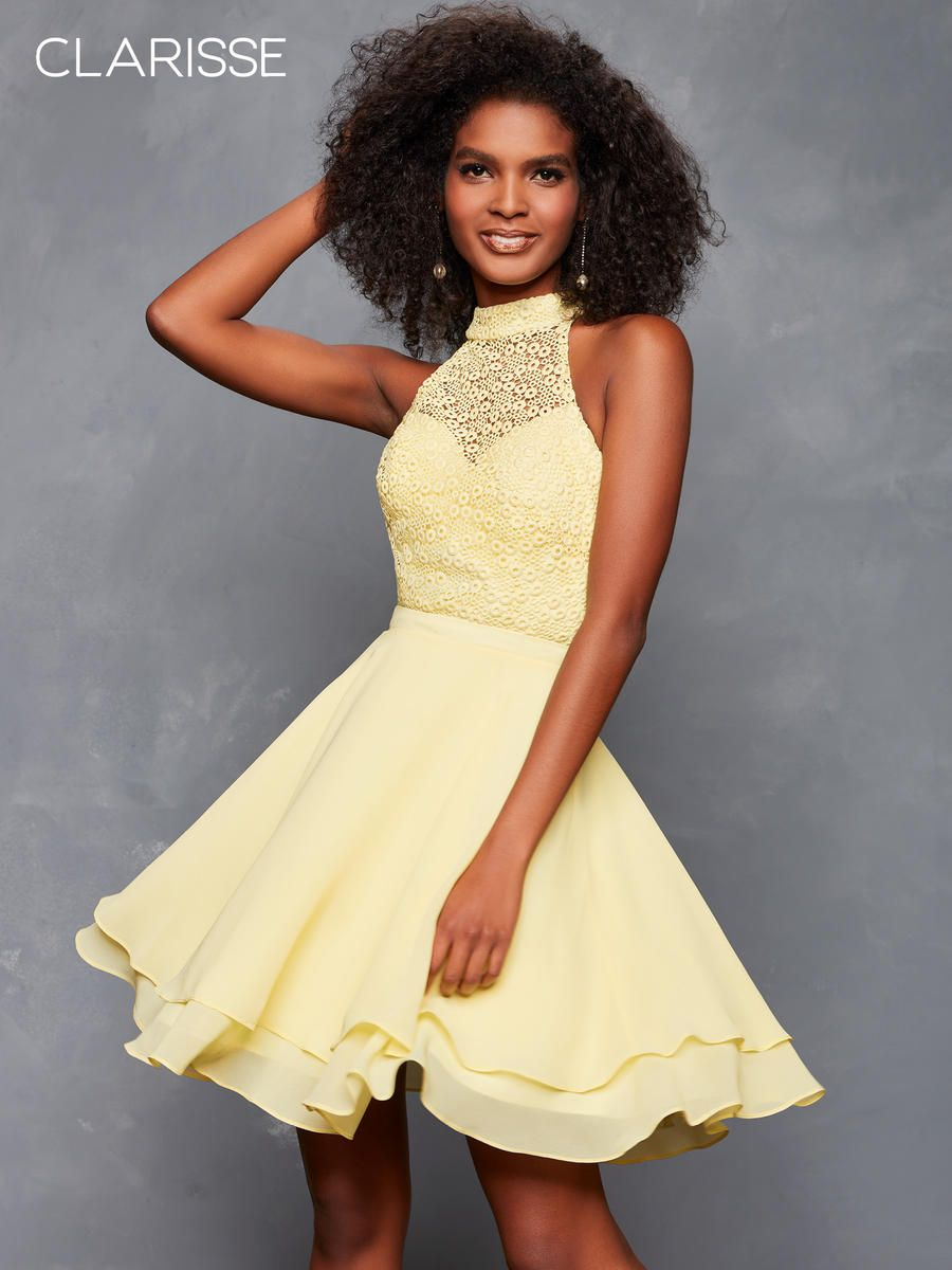 Homecoming yellow dresses exclusive photo