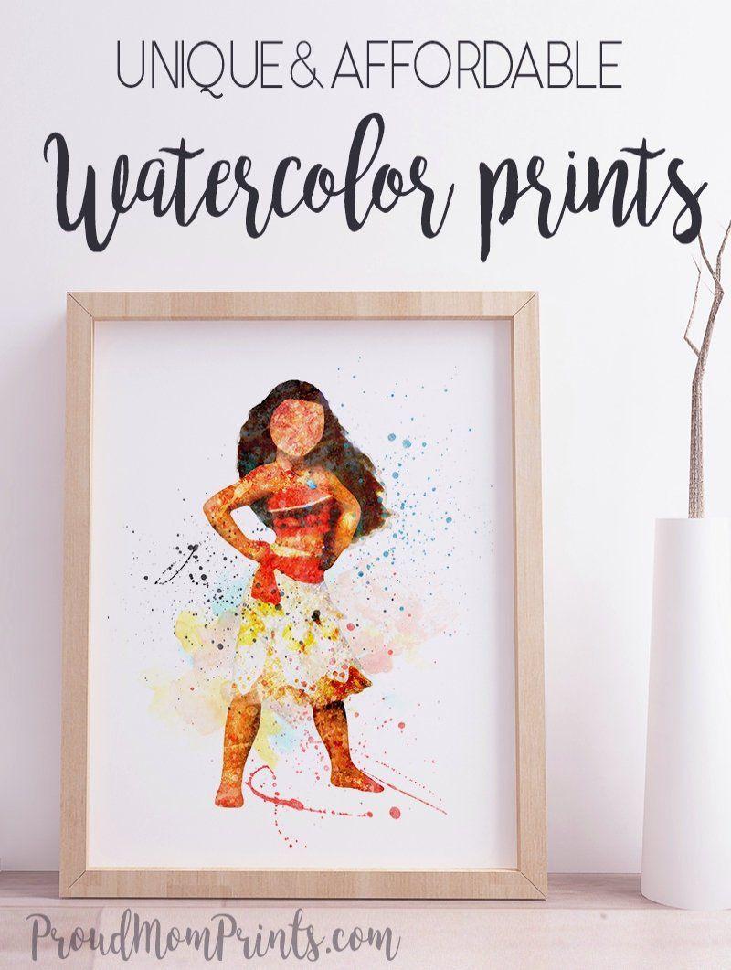 Princess Moana Art Print Disney Princess Art Poster Nursery