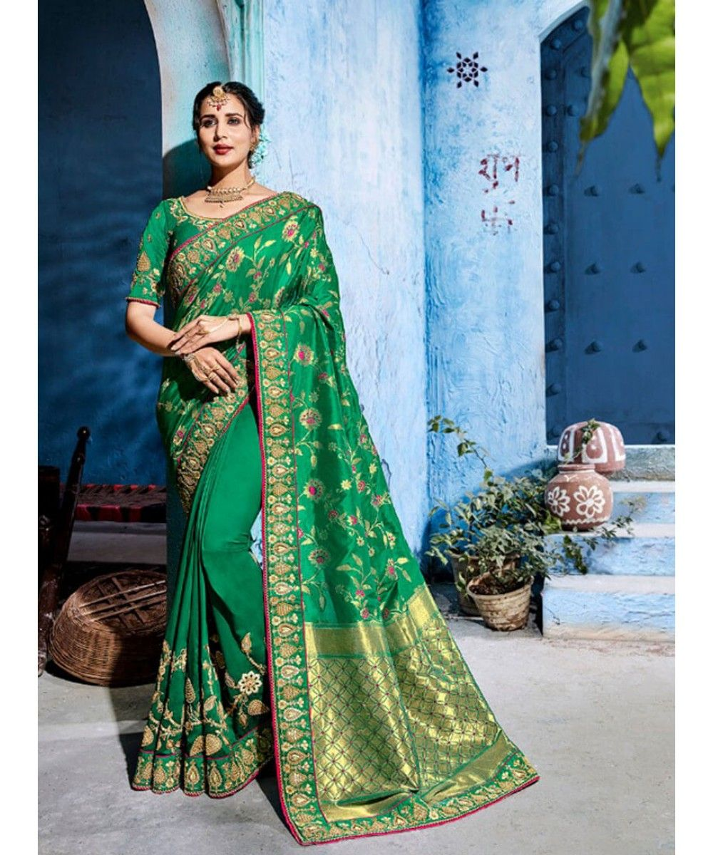 c41ce95274 Designer Silk Saree   India USA UK Canada   NEW ARRIVALS @ Indiwear ...