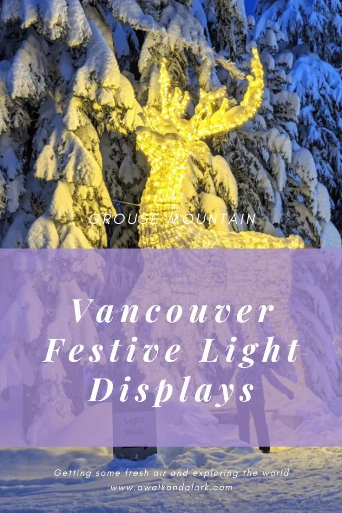 Vancouver winter light displays Grouse Mountain has a
