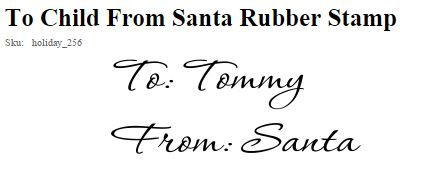 To Child From Santa Rubber Stamp | Holiday Stamps | Pinterest ...