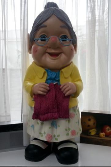 Gnome In Garden: Asda Grandma Gnome.