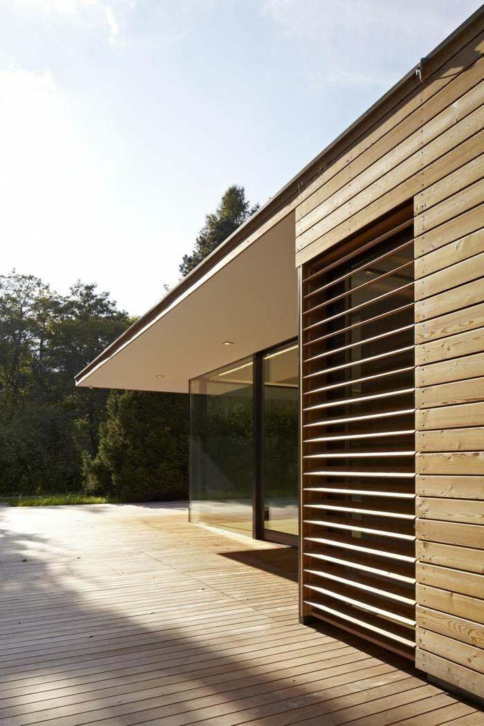 Effektvoller Sonnenschutz für die Wohnung aus Holzlamellen ...