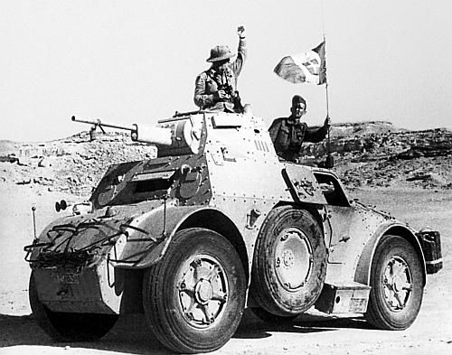 Autoblinda 41 AB Leading An Attack On English Positions In Libya