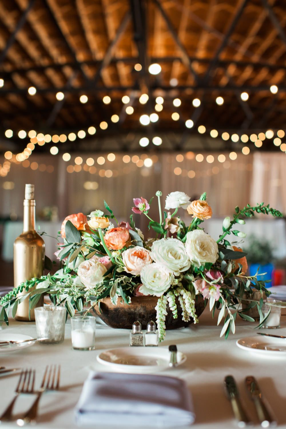 Pretty botanical wedding in the ruins of a us warehouse