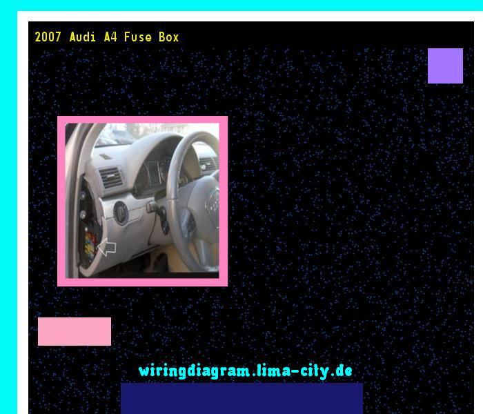 2007 Audi A4 Fuse Box  Wiring Diagram 174543