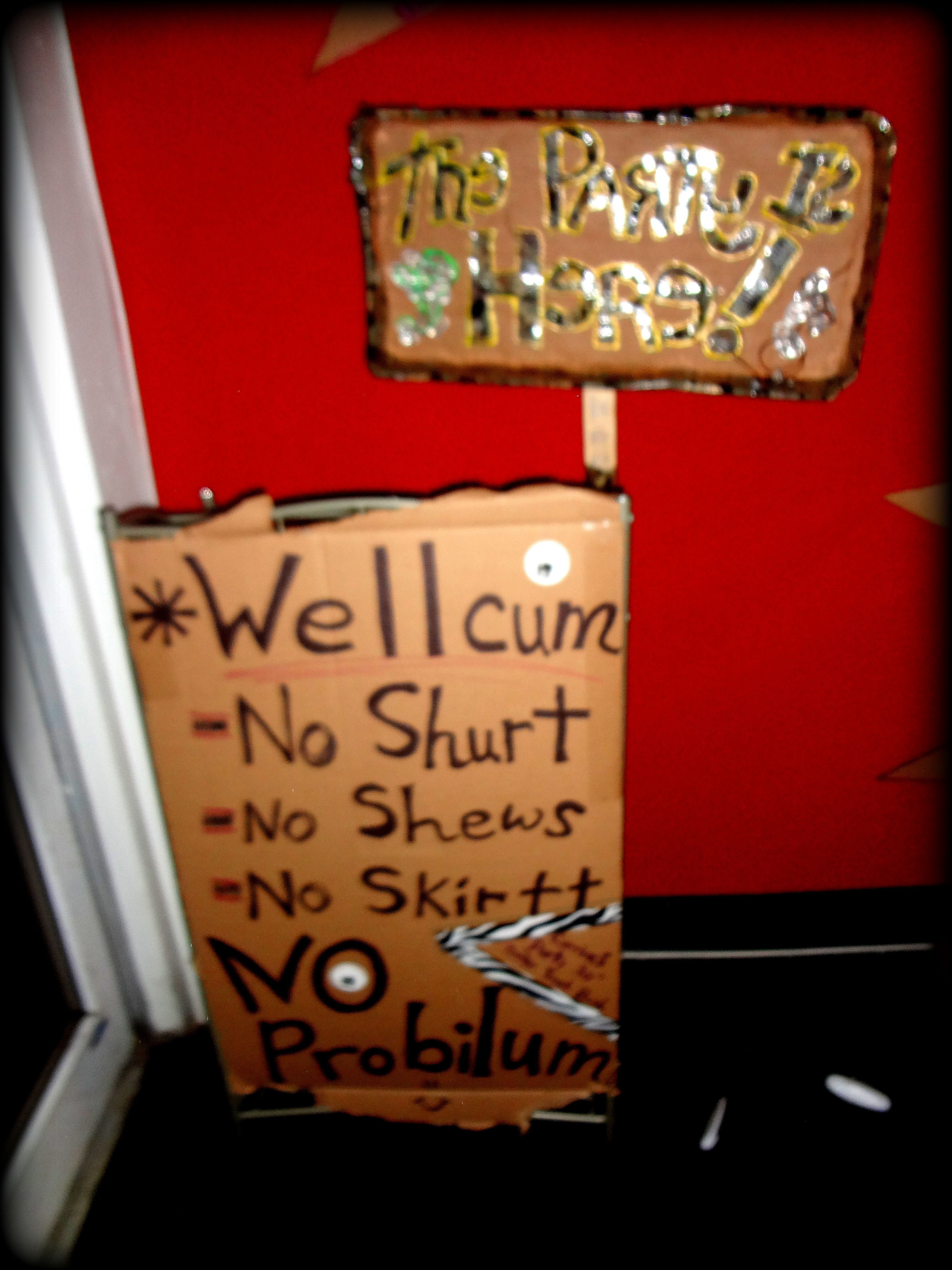 Welcome sign corrines durty 30 trailer trash bash corrines hillbilly party stopboris Image collections