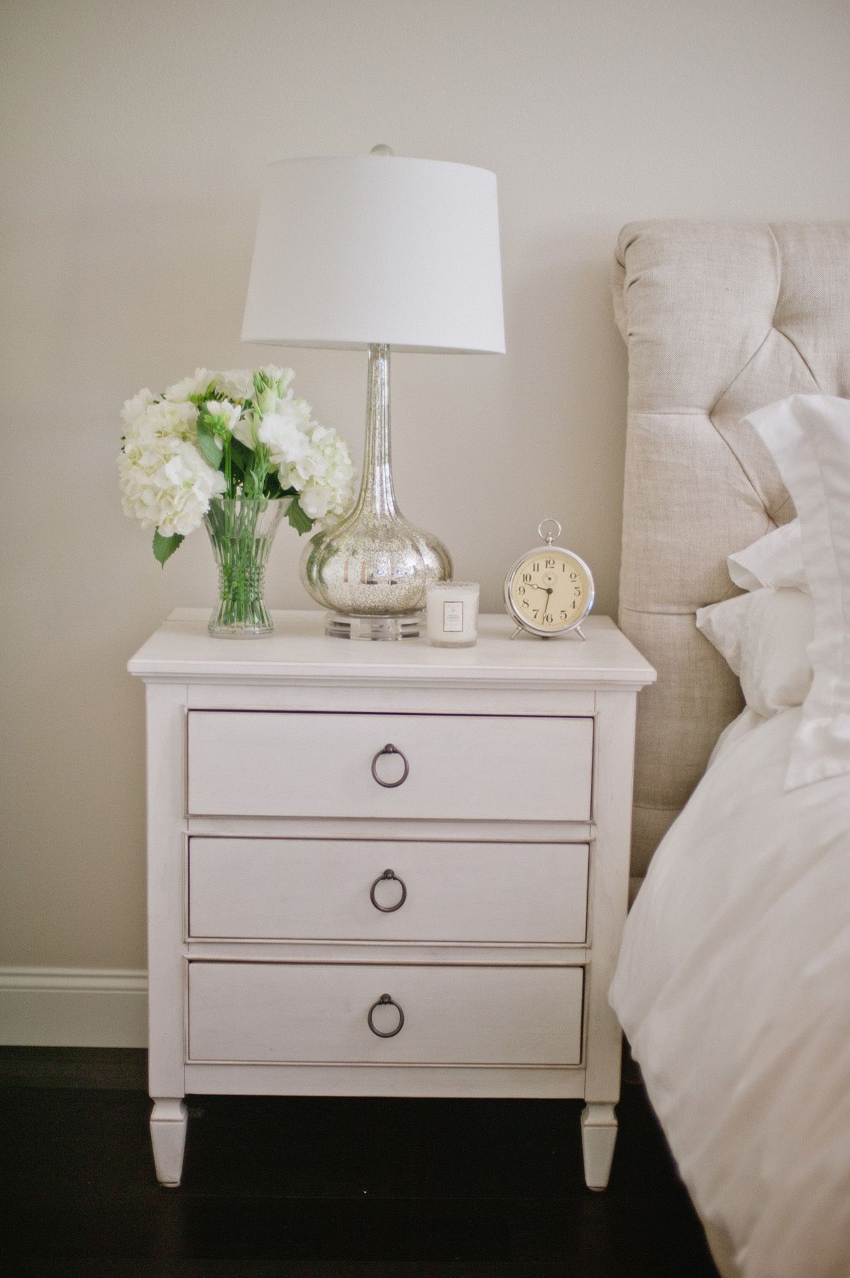 Los Angeles Home Tour Fall Bedroom Decor White Rooms Bedside Table Decor