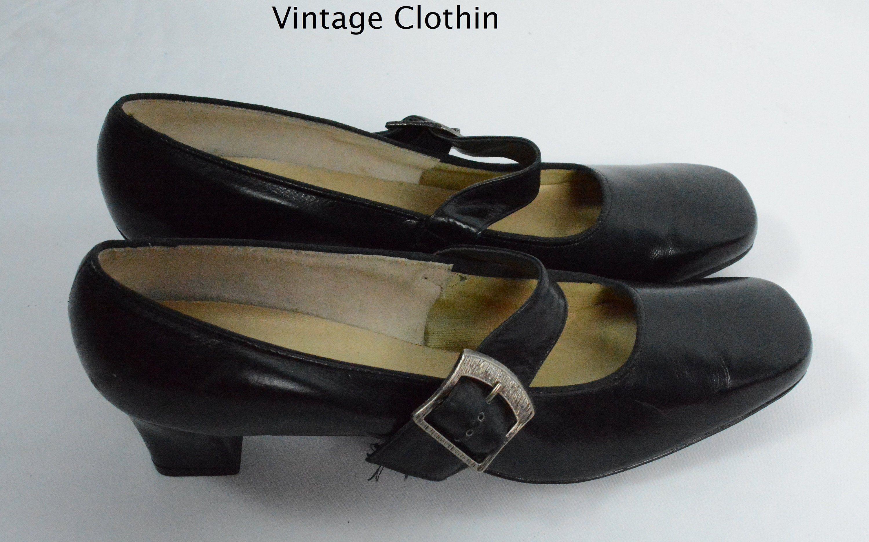 d913d134e3325 1960s Auditions Black Pumps, New Old Stock, 1960s Pumps, 60s Shoes ...