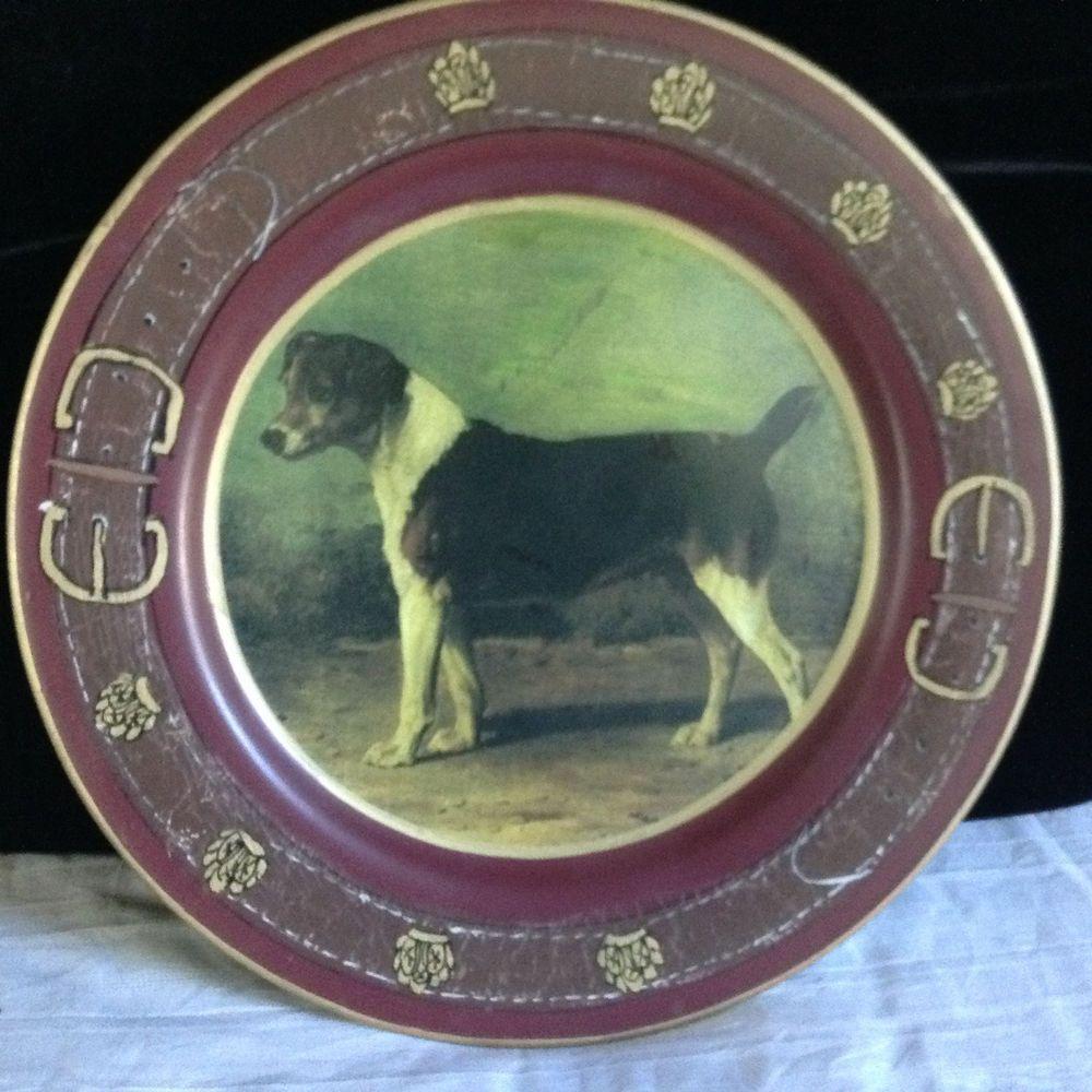 RAYMOND WAITES FOR TOYO TRADING English Foxhound?? DOG DECORATIVE PLATE & RAYMOND WAITES FOR TOYO TRADING English Foxhound?? DOG DECORATIVE ...