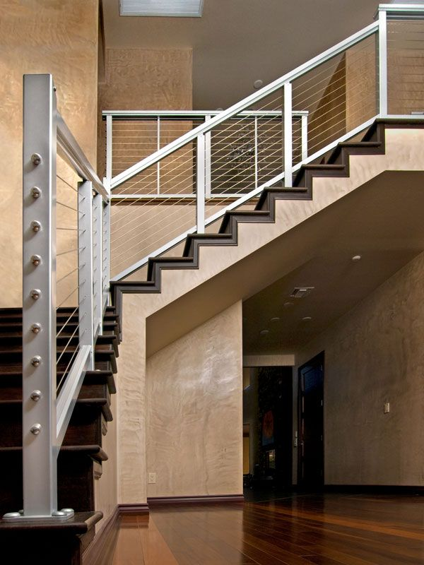 This aluminum railing could give your loft stairs beauty ...