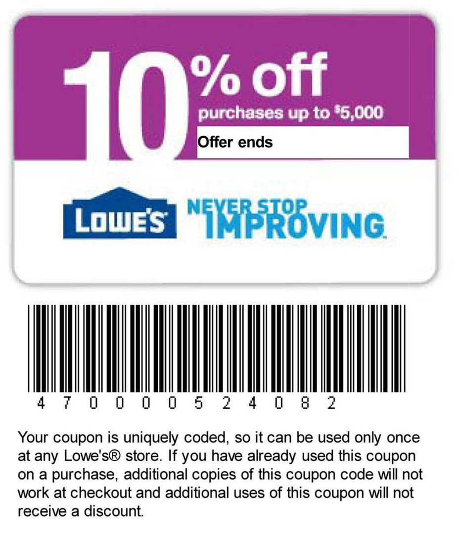 Past Lowes Coupon Codes