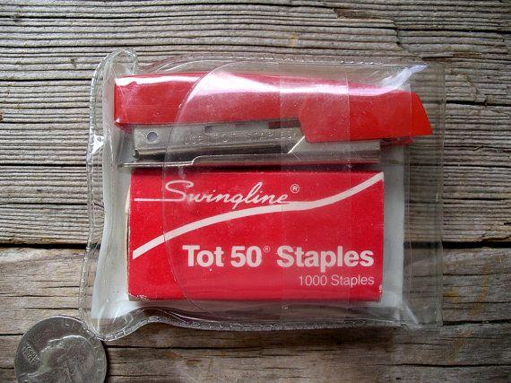 Vintage Swingline Tot Stapler Kit - Mini Portable Office