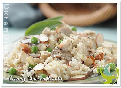 Creamy Chicken Risotto!  So good!