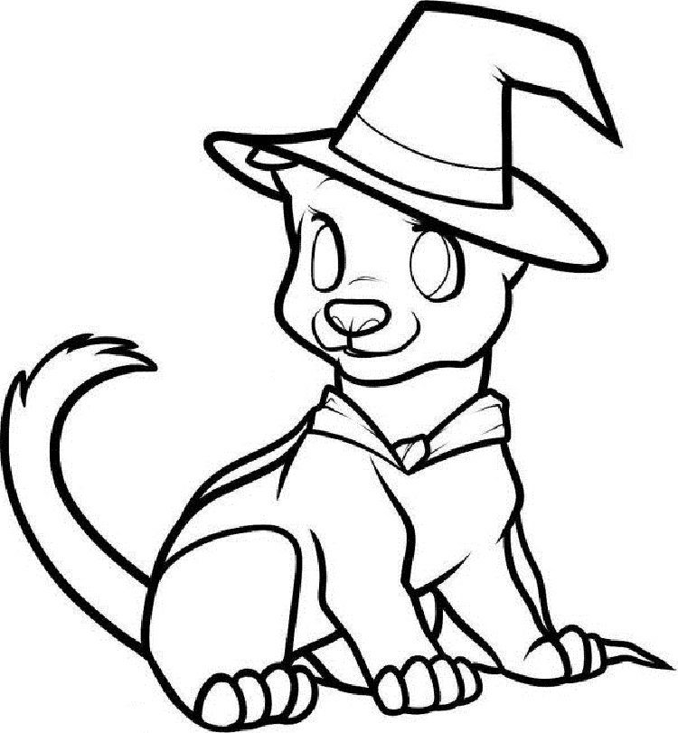 Halloween Animal Coloring Pages