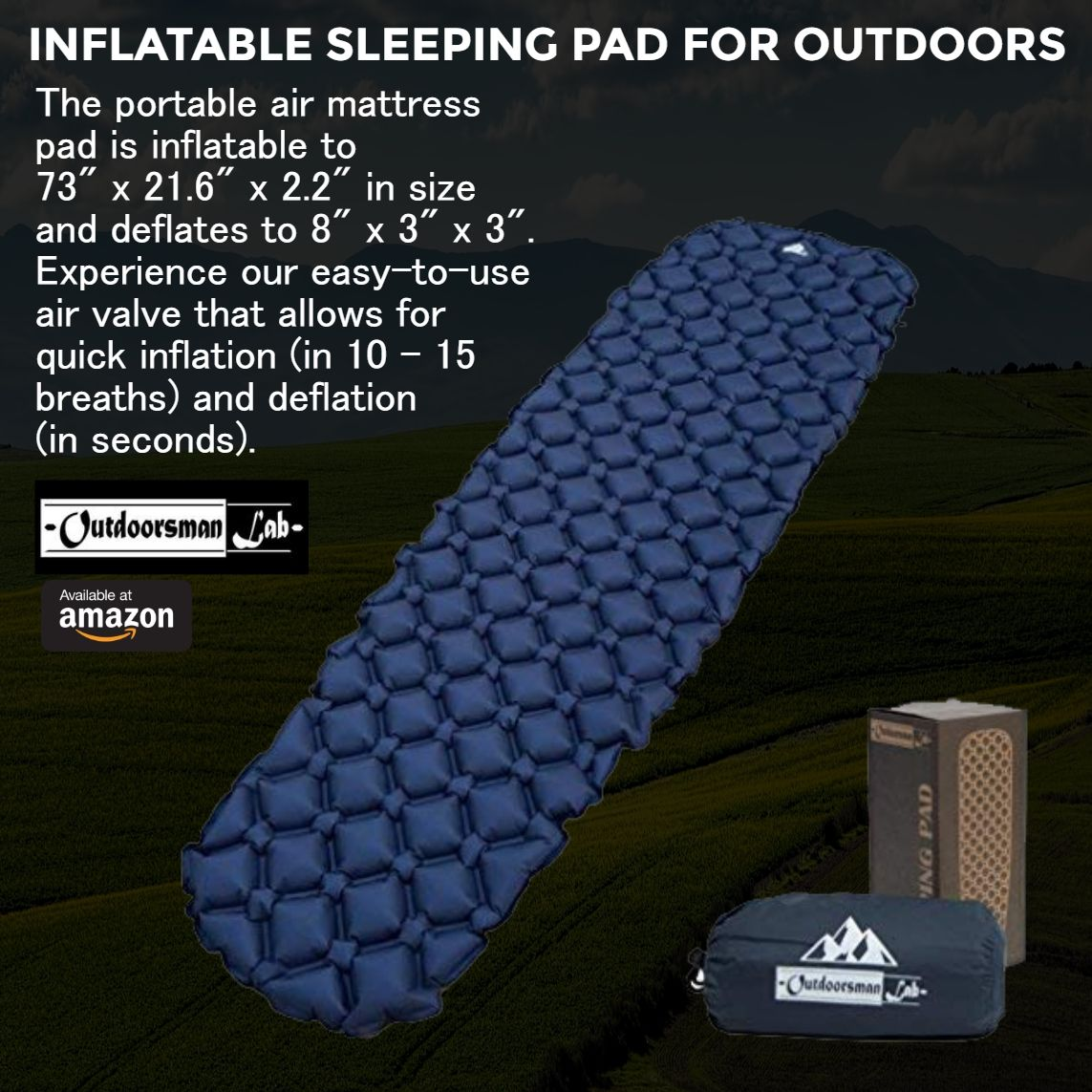 Inflatable Sleeping Pad For Outdoors The Portable Air Mattress Is To 73